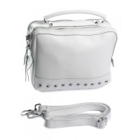 Кожаная сумка женская Parse №AM-1268 White