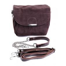 Замшевая сумка с комбинацией кожи Parse №B5061-1 Коричневый