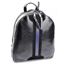 Кожаный женский рюкзак Parse №B6058-1 Черный