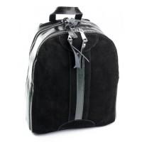 Женский рюкзак из кожи и замши Parse B6058 Черный