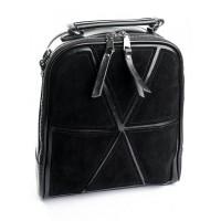 Рюкзак женский из замши и кожи Parse B7055-1 Черный