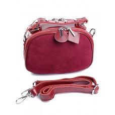 Женская сумка из кожи и замши Parse №B7078-1 Красный