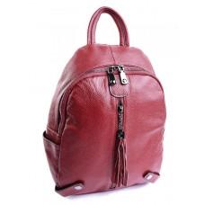 Женский рюкзак кожаный Parse №DZ-302-1 Красный