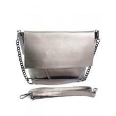 Женская сумка натуральная кожа Parse №M-8322 серый