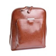 Рюкзак женский натуральная кожа №MH-8628 Рыжий