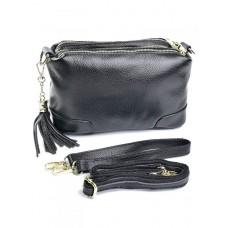Кожаная сумка женская Parse №SL-8616 черный