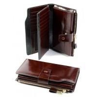 Кожаный кошелек женский Parse №D-3302 Коричневый
