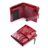 Женский кожаный кошелек Parse №D-6033 Красный