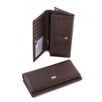 Кожаный женский кошелек Parse №E01-207 Коричневый