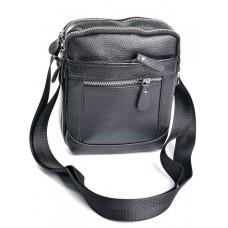 Мужская сумка кожаная Parse №1187 Черный