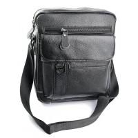Мужская сумка из натуральной кожи Parse №1805 черный
