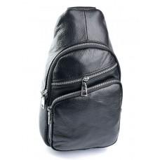 Мужская сумка через плечо кожаная Parse №3301 Черный