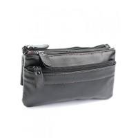 Кожаная мужская сумка на пояс Parse №607 черный