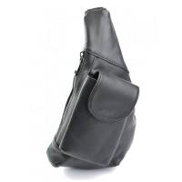 Мужская сумка-кобура кожаная Parse №712 черный