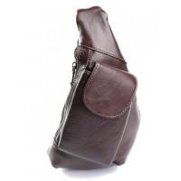 Кожаная сумка-кобура мужская Parse №712 коричневый