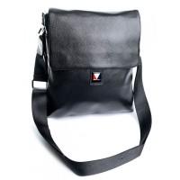 Кожажаная мужская сумка Parse №9982 Черный