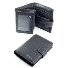 Кожаное портмоне мужское Parse №BK001-807 Серый