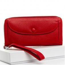 Кожаный кошелек женский Dr. Bond №WS-22 red
