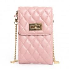 Клатч кожаный Alex Rai №1038 pink