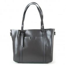 Женская сумка из кожи офисная Alex Rai 1535 grey