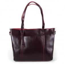 Женская сумка из натуральной кожи деловая Alex Rai 1535 wine-red