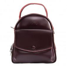 Женский кожаный рюкзак Alex Rai №2229-220 burgundy