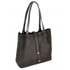 Женская замшевая сумка Alex Rai №317-1 grey