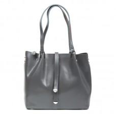 Женская сумка из кожи с длинными ручками Alex Rai 317 grey