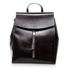 Женский кожаный рюкзак Alex Rai №3206 Коричневый