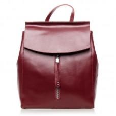 Рюкзак из натуральной кожи Alex Rai №3206 Бордовый