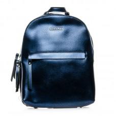 Рюкзак кожаный женский Alex Rai №337 blue
