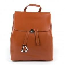 Женский рюкзак кожаный на клапане Alex Rai 360 khaki