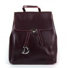 Женский кожаный рюкзак Alex Rai 360 wine-red