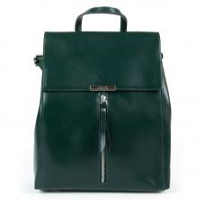 Женский рюкзак с клапаном кожа  Alex Rai 373 green