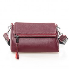 Женская кожаная сумка Alex Rai №7114 Бордовый