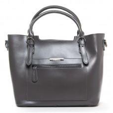 Женская кожаная сумка офисная Alex Rai 8222 grey