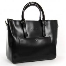 Женская сумка гладкая кожа ALEX RAI 8223 black