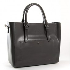 Женская сумка из кожи деловая ALEX RAI 8223 dark-grey
