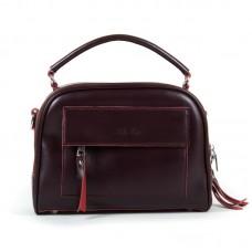 Модная женская сумка из натуральной кожи Alex Rai 8545 burgundy