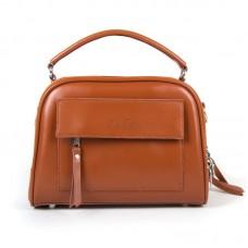 Женская сумка через плечо натуральная кожа Alex Rai 8545 wheat