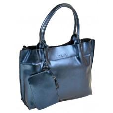 Женская сумка натуральная кожа Alex Rai №8546 blue