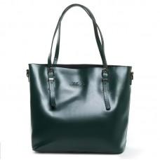 Женская сумка с тонкими ручками натуральная кожа Alex Rai 8603 green