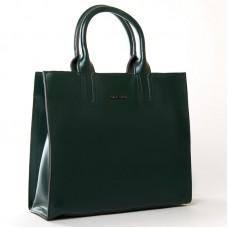 Женская сумка гладкая кожа ALEX RAI 8633 green