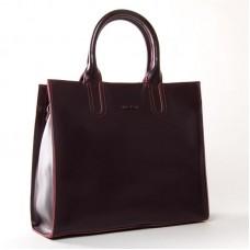 Женская сумка из гладкой кожи ALEX RAI 8633 red-wine