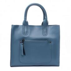 Кожаная женская сумка Alex Rai №8634-1 blue