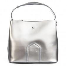 Кожаная сумка женская Alex Rai №8641 grey