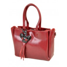Женская кожаная сумка Alex Rai №8682 colored-red