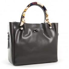 Женская кожаная сумка ALEX RAI 8696-3 grey