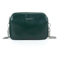 Женский клатч кожаный с цепочкой Alex Rai 8701 green