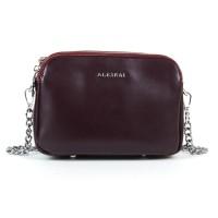 Клатч женский кожаный Alex Rai 8701 wine-red